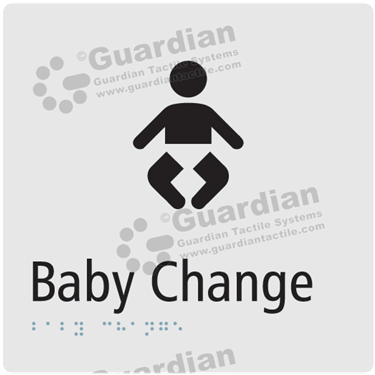 Baby Change in Silver (180x180) [GBS-03BC-SV]