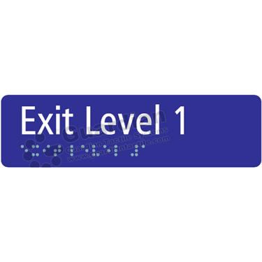 Exit Level 1 in Blue (180x50) [GBS-03EL1-BL]
