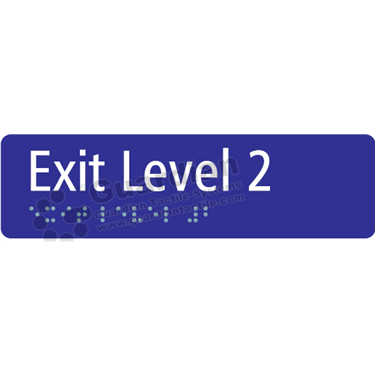 Exit Level 2 in Blue (180x50) [GBS-03EL2-BL]