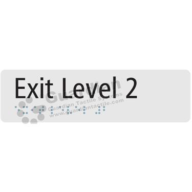 Exit Level 2 in Silver (180x50) [GBS-03EL2-SV]