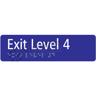 Exit Level 4 in Blue (180x50) [GBS-03EL4-BL]