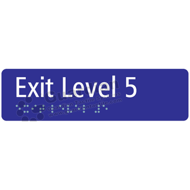 Exit Level 5 in Blue (180x50) [GBS-03EL5-BL]