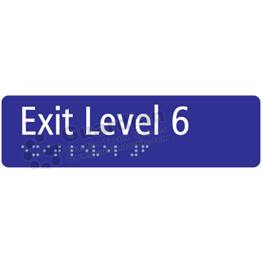 Exit Level 6 in Blue (180x50) [GBS-03EL6-BL]
