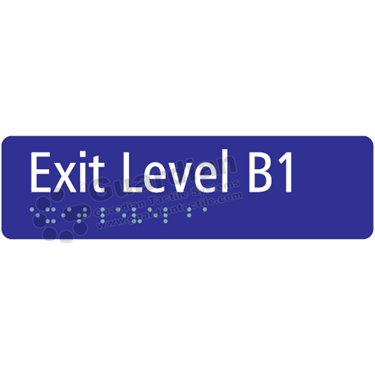 Exit Level B1 in Blue (180x50) [GBS-03ELB1-BL]