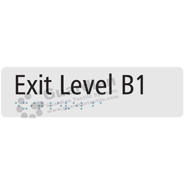 Exit Level B1 in Silver (180x50) [GBS-03ELB1-SV]