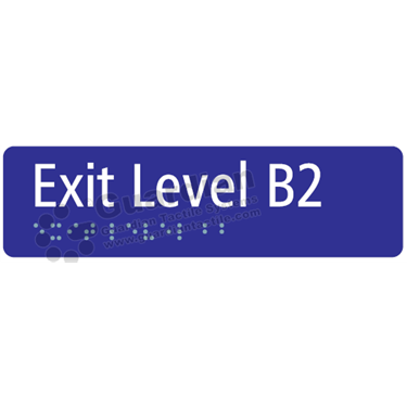 Exit Level B2 in Blue (180x50) [GBS-03ELB2-BL]
