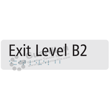 Exit Level B2 in Silver (180x50) [GBS-03ELB2-SV]