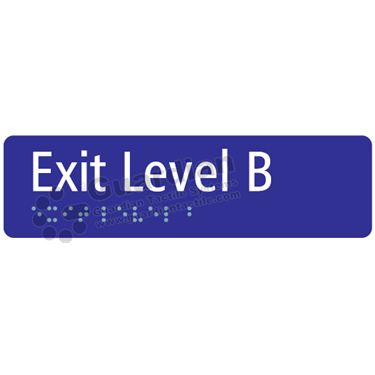 Exit Level B in Blue (180x50) [GBS-03ELB-BL]