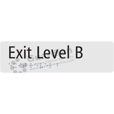Exit Level B in Silver (180x50) [GBS-03ELB-SV]