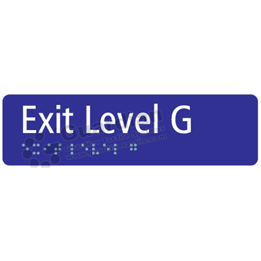 Exit Level G in Blue (180x50) [GBS-03ELG-BL]
