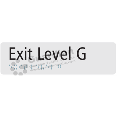 Exit Level G in Silver (180x50) [GBS-03ELG-SV]