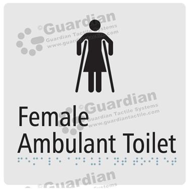 Female Ambulent Toilet in Silver(180x180) [GBS-03FAT-SV]