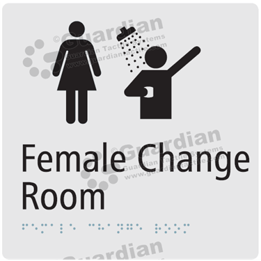 Female Change Room and Shower in Silver (180x180) [GBS-03FCRS-SV]