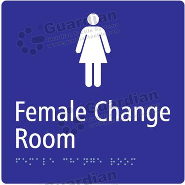 Female Change Room in Blue (180x180) [GBS-03FCR-BL]