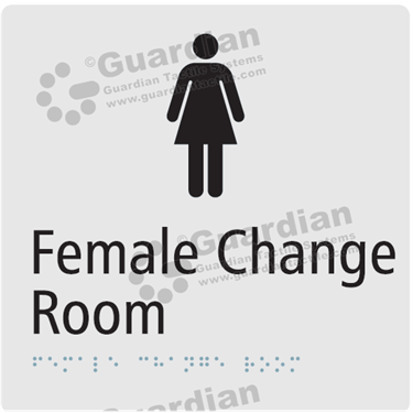 Female Change Room in Silver (180x180) [GBS-03FCR-SV]