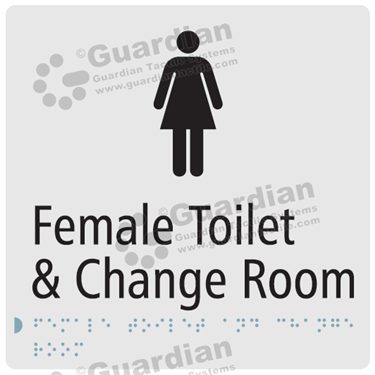 Female Toilet and Change Room in Silver (180x180) [GBS-03FTCR-SV]