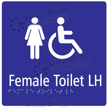 Female Toilet LH in Blue (180x180) [GBS-03FTLH-BL]