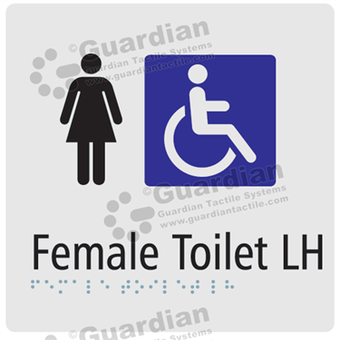 Female Toilet LH in Silver (180x180) [GBS-03FTLH-SV]