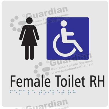 Female Toilet RH in Silver (180x180) [GBS-03FTRH-SV]