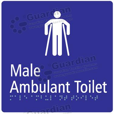 Male Ambulent Toilet in Blue (180x180) [GBS-03MAT-BL]