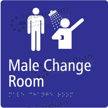 Male Change Room and Shower in Blue (180x180) [GBS-03MCRS-BL]