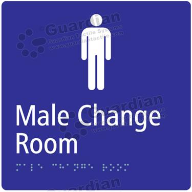 Male Change Room in Blue (180x180) [GBS-03MCR-BL]