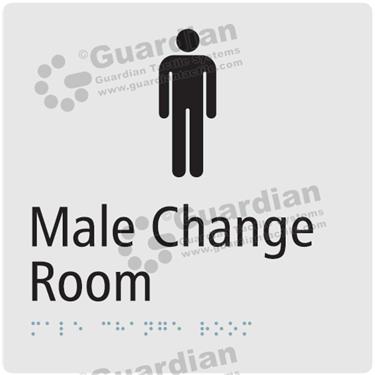 Male Change Room in Silver (180x180) [GBS-03MCR-SV]