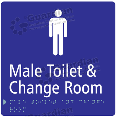 Male Toilet and Change Room in Blue (180x180) [GBS-03MTCR-BL]
