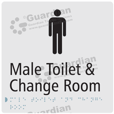Male Toilet and Change Room in Silver (180x180) [GBS-03MTCR-SV]