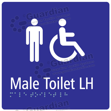 Male Toilet LH in Blue (180x180) [GBS-03MTLH-BL]