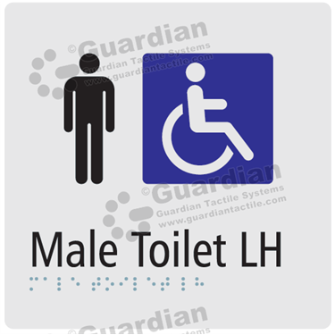 Male Toilet LH in Silver (180x180) [GBS-03MTLH-SV]