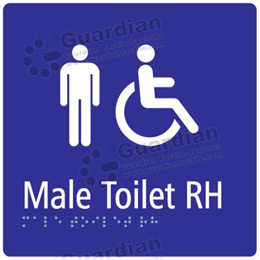 Male Toilet RH in Blue (180x180) [GBS-03MTRH-BL]