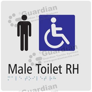 Male Toilet RH in Silver (180x180) [GBS-03MTRH-SV]