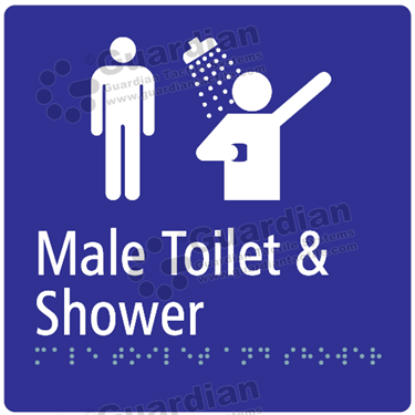 Male Toilet and Shower in Blue (180x180) [GBS-03MTS-BL]
