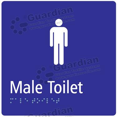 Male Toilet in Blue (180x180) [GBS-03MT-BL]