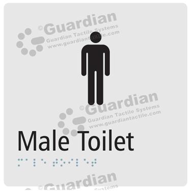 Male Toilet in Silver (180x180) [GBS-03MT-SV]