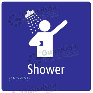 Shower in Blue (180x180) [GBS-03S-BL]