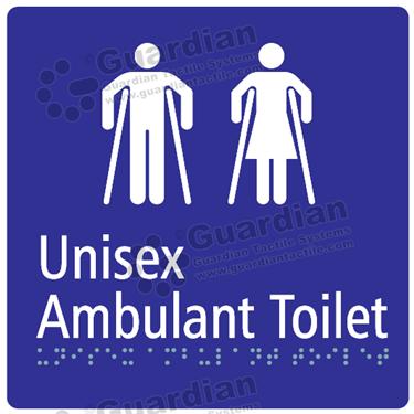 Unisex Ambulent Toilet in Blue (180x180) [GBS-03UAT-BL]