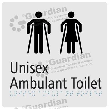 Unisex Ambulent Toilet in Silver (180x180) [GBS-03UAT-SV]