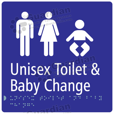 Unisex Toilet and Baby Change in Blue (180x180) [GBS-03UTBC-BL]