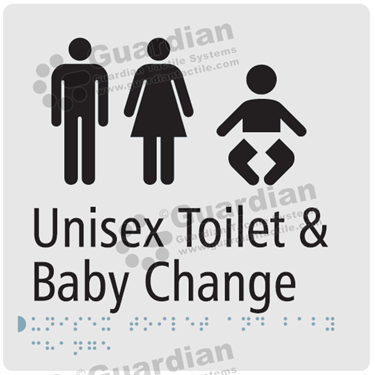 Unisex Toilet and Baby Change in Silver (180x180) [GBS-03UTBC-SV]