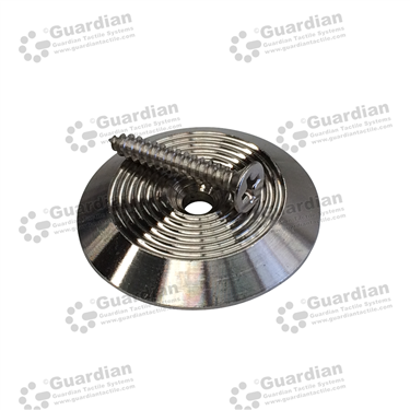 316 Warning Tactile with Plug & Screw (3.9x25mm screw) [GTS425PS-316]