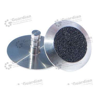 316 Warning Tactile with Black Carborundum (6x15mm stem) [GTS615-316BK]