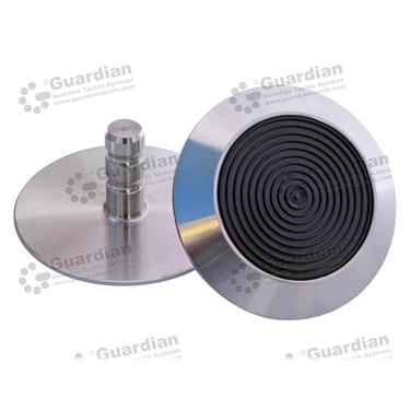 316 Warning Tactile with Black TPU (6x15mm stem) [GTS615-316TPUBK]