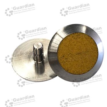 316 Warning Tactile with Yellow Carborundum (6x15mm stem) [GTS615-316YL]