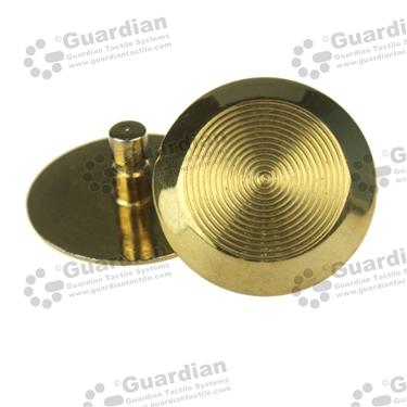 Brass Warning Tactile (6x15mm stem) [GTS615-BRS]