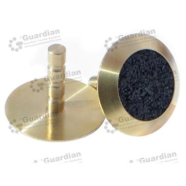 Brass Warning Tactile with Black Carborundum (6x25mm stem) [GTS625-BRSBK]