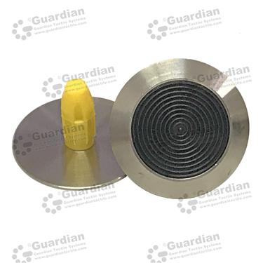 316 Warning Tactile with Black TPU and Plug (8.5x18mm plug) [GTS818P-316TPUBK]
