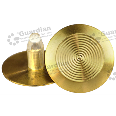 Brass Warning Tactile and Plug (8.5x18mm plug) [GTS818P-BRS]