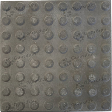 Concrete Warning Tactile (400x400x40mm) - Smooth Charcoal [GTI-01CW-44SCH]